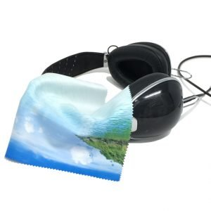 6″ x 6″ Ultra HD Cleaning Cloth - headphones