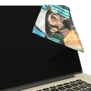 7x7 Premium Fiber Cleaning Cloth with laptop